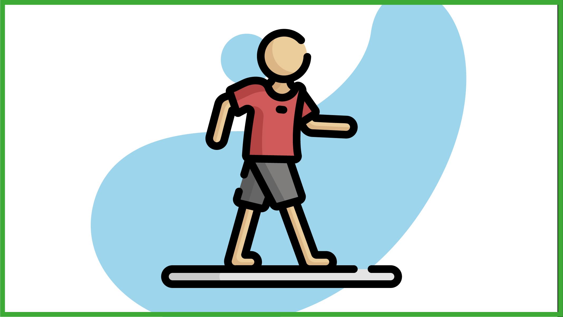 Immagine di una persona che cammina