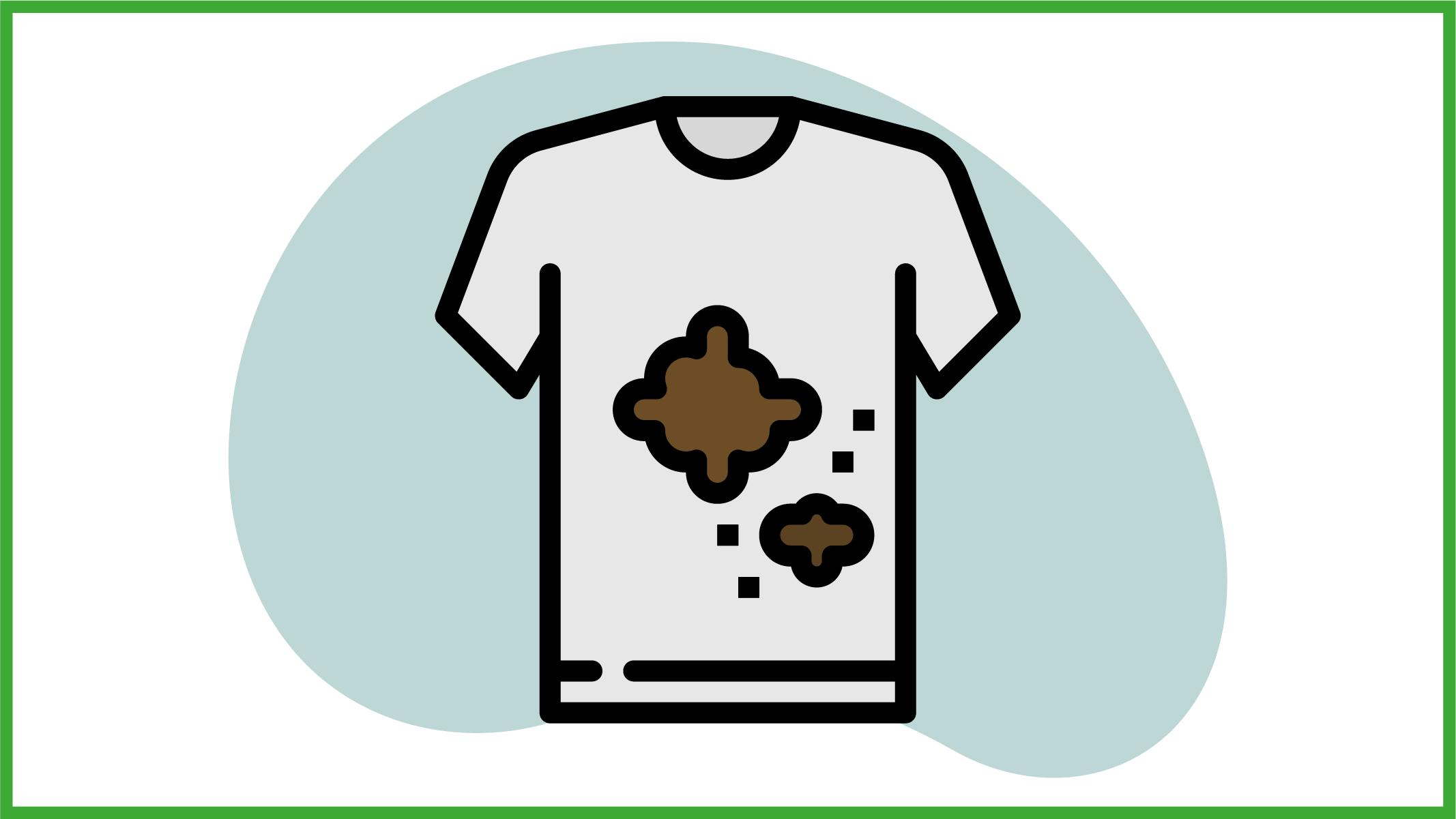 Immagina di una maglietta con una macchia
