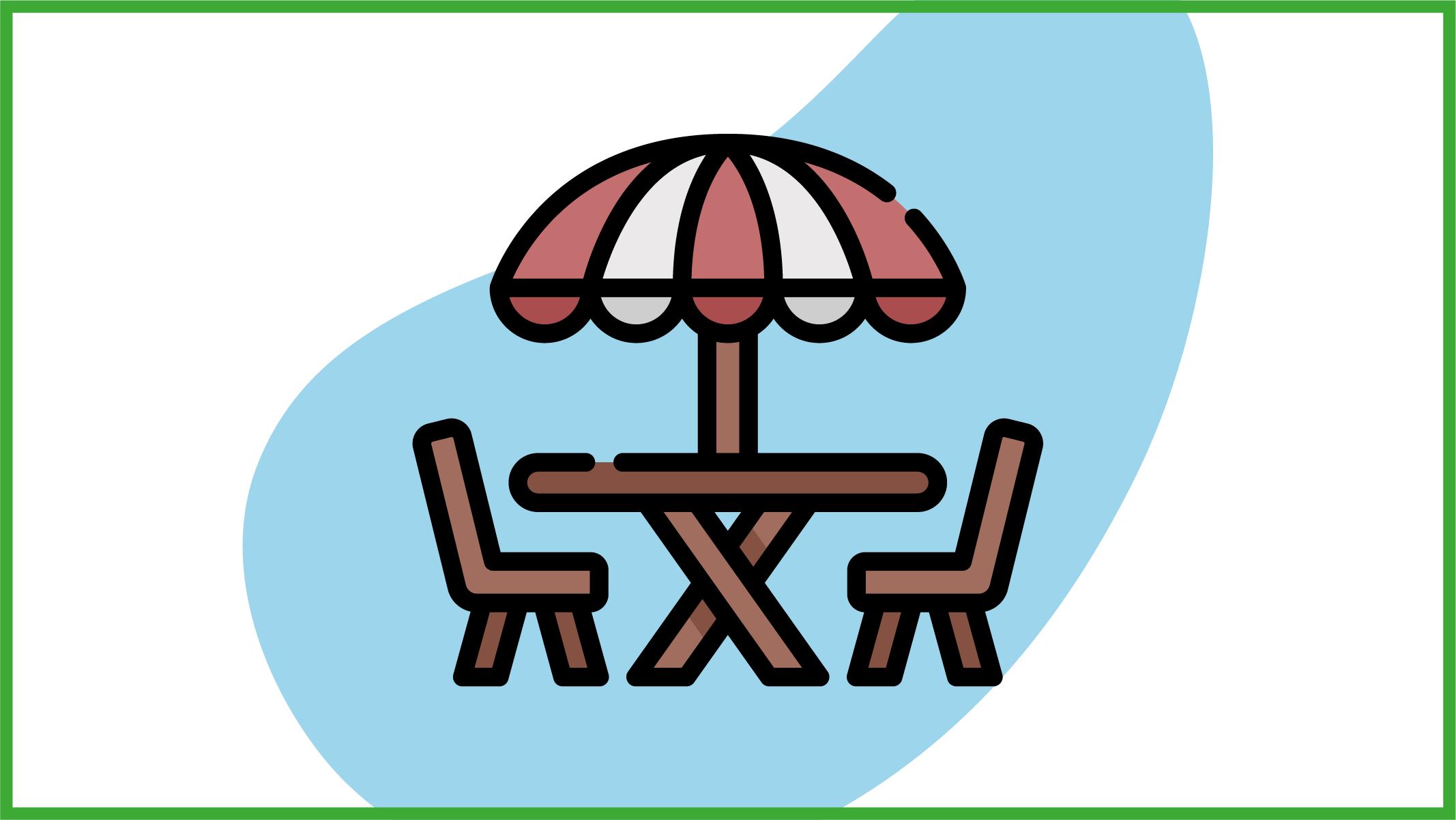 Immagine sedie e tavolo da giardino
