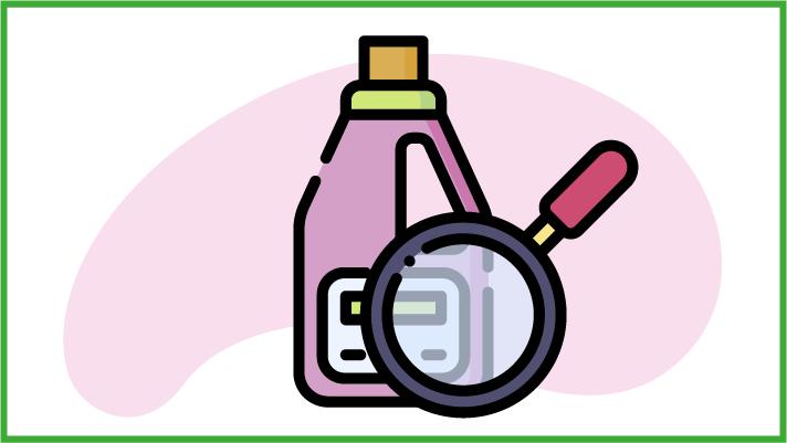 leggere le etichette dei detersivi bio