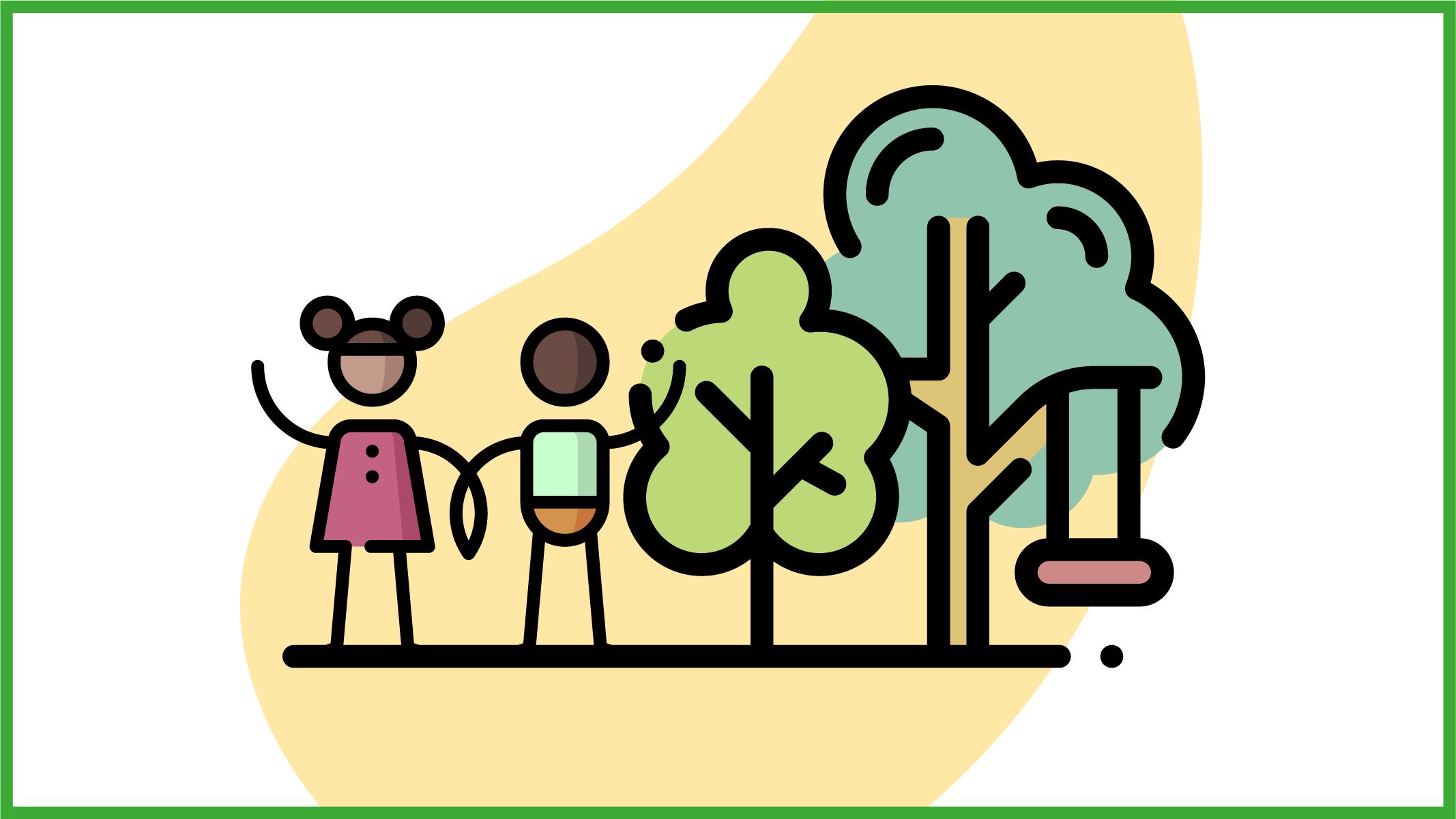 Immagine di bambini in un parco