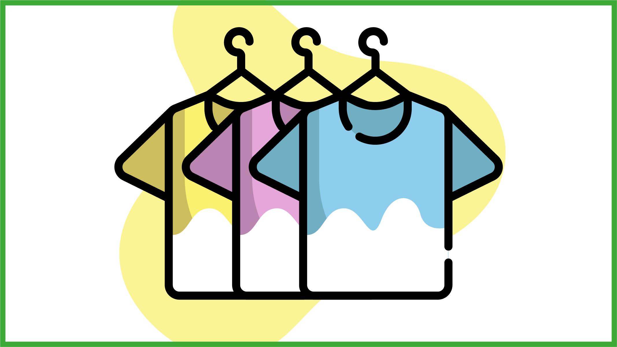 Immagine di magliette colorate candeggiate