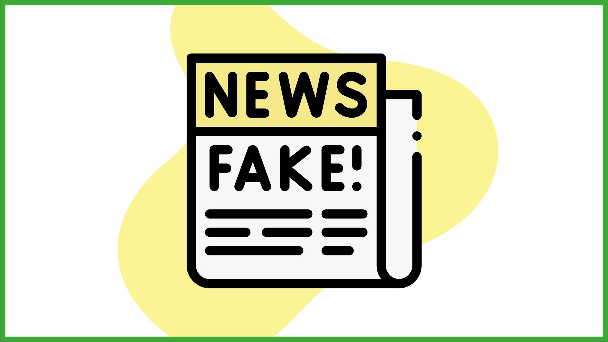 giornale che riporta fake news