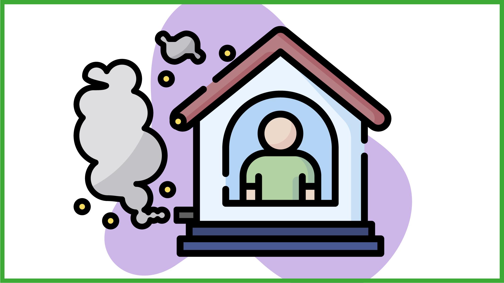 immaigne di casa con scarichi tossici
