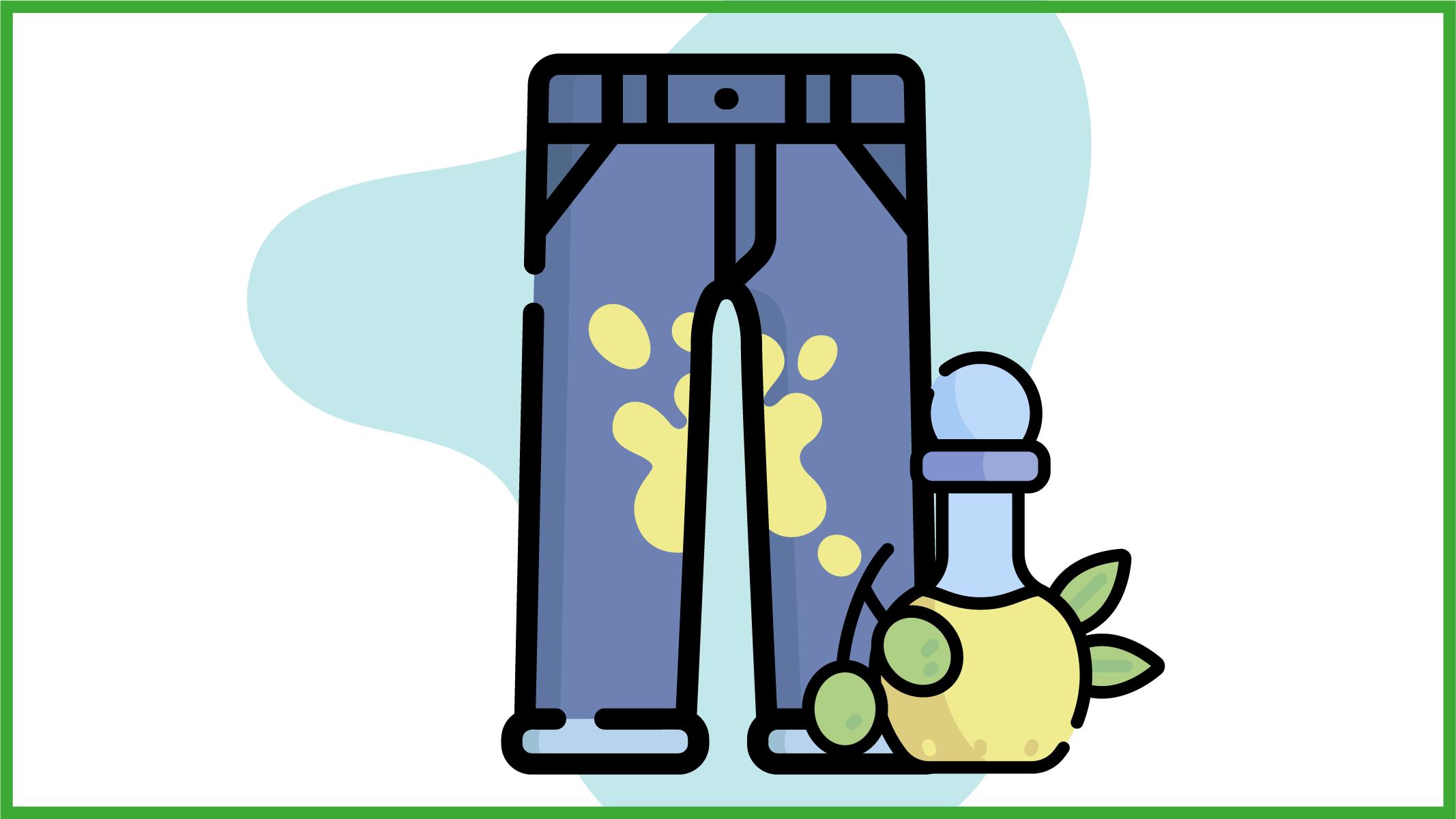 immagine di jeans macchiati di olio