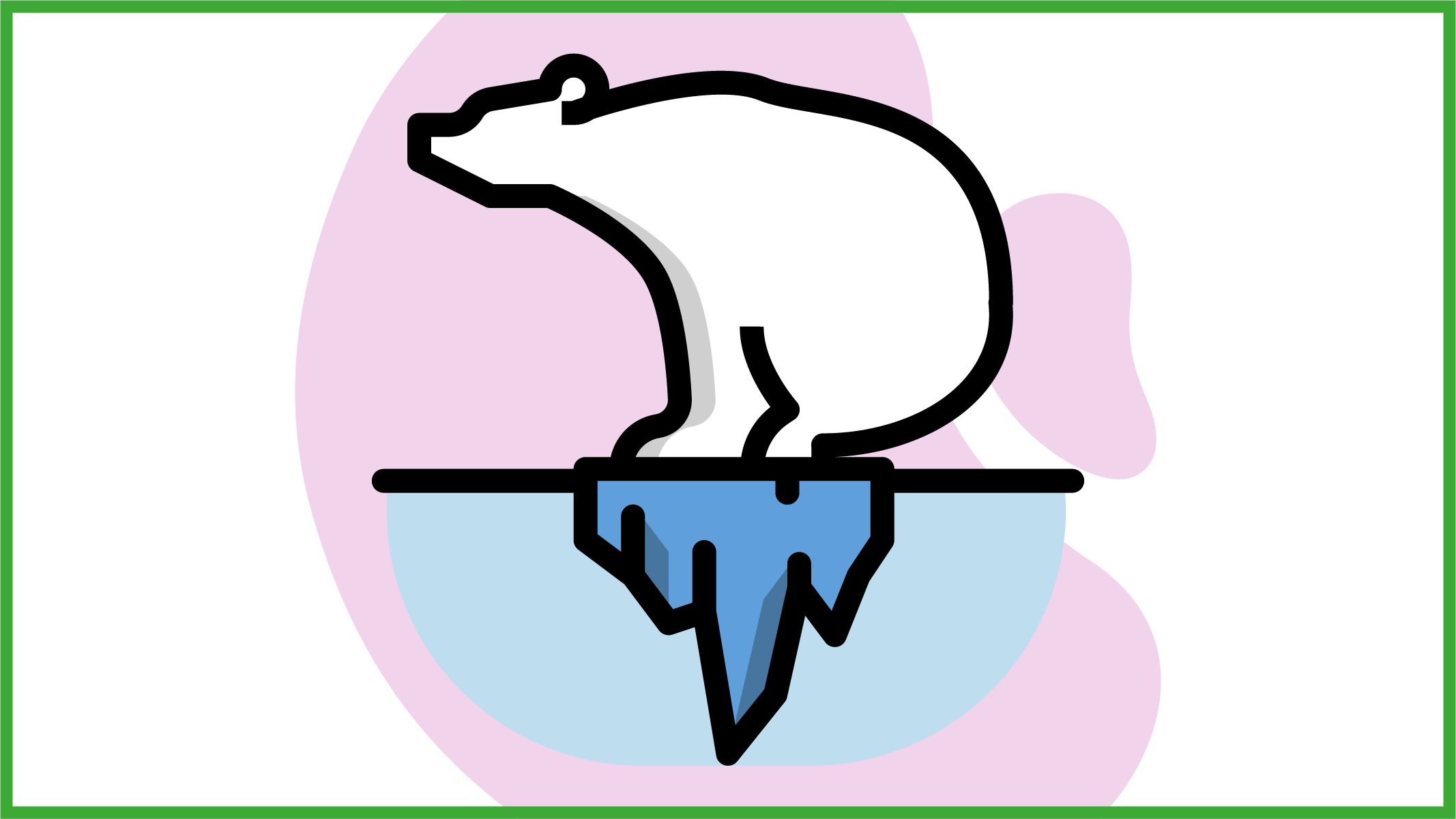 Orso bianco sopra piccolo iceberg
