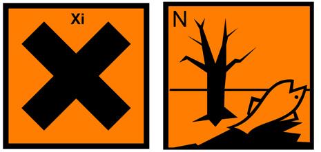 simboli pericolo candeggina