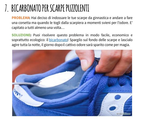 bicarbonato scarpe