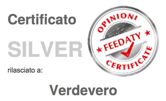certificato silver feedaty