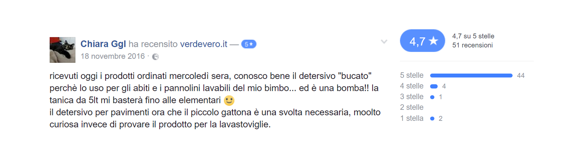 recensione verdevero facebook