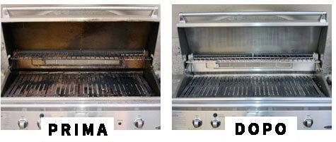 come pulire pulire griglia