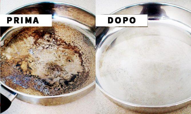 come pulire padella