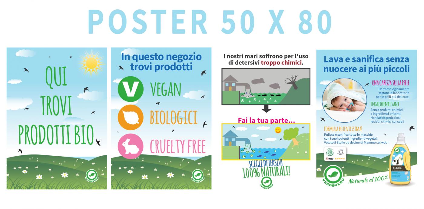 poster BIO verdevero detersivi ecologici