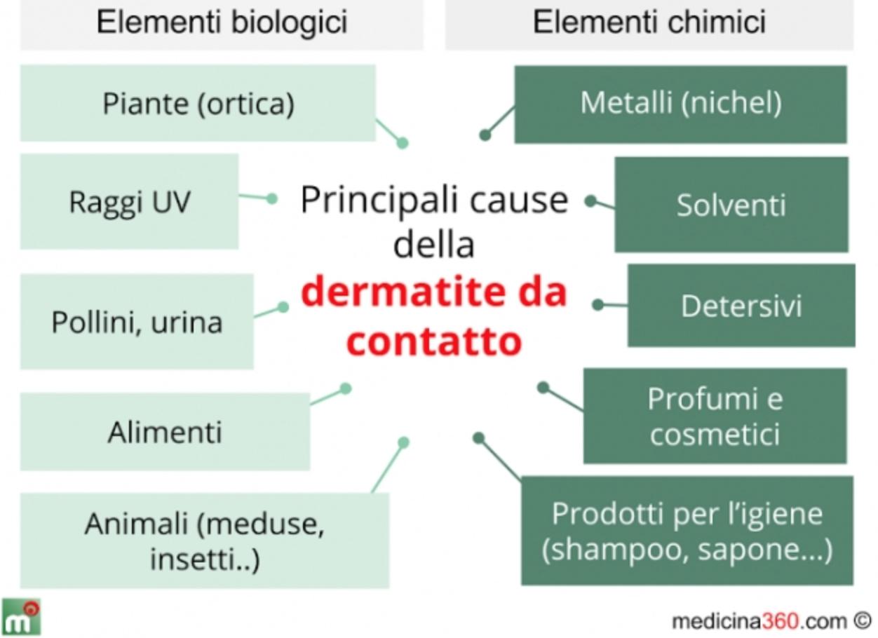 dermatite da contatto cause