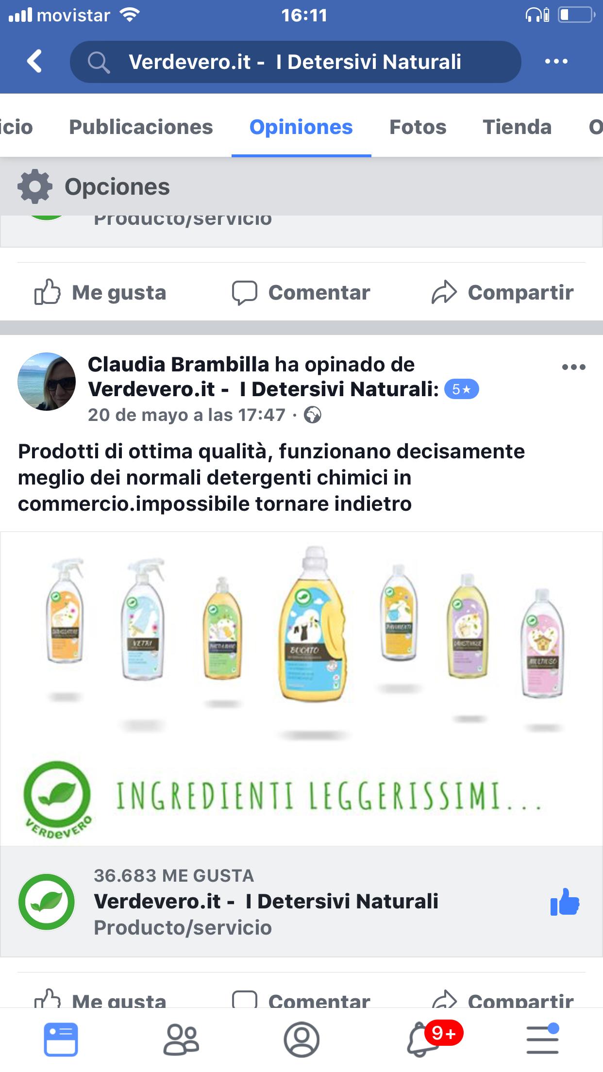 recensione facebook