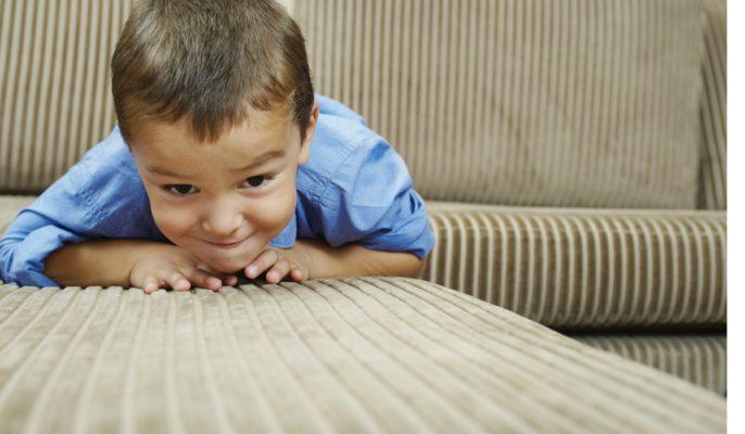 macchia di pipì su divano